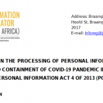 South Africa's Information Regulator weighs in on covid comms