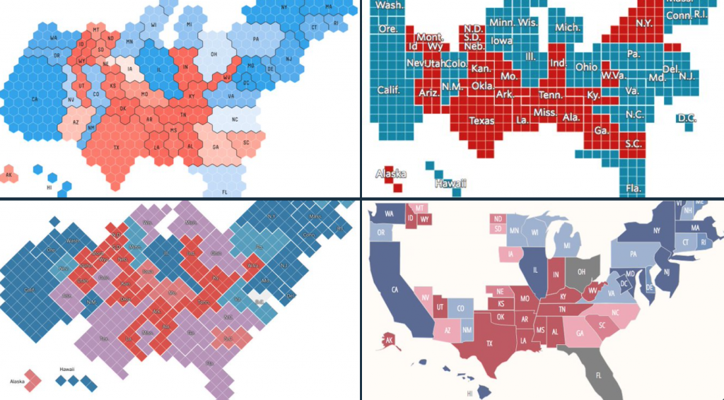 Collection of election cartograms