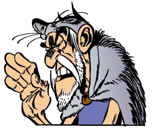 Prolix, a soothsayer from Asterix and Obelix