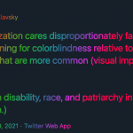 Accessible data visualisation – beyond colour blindness