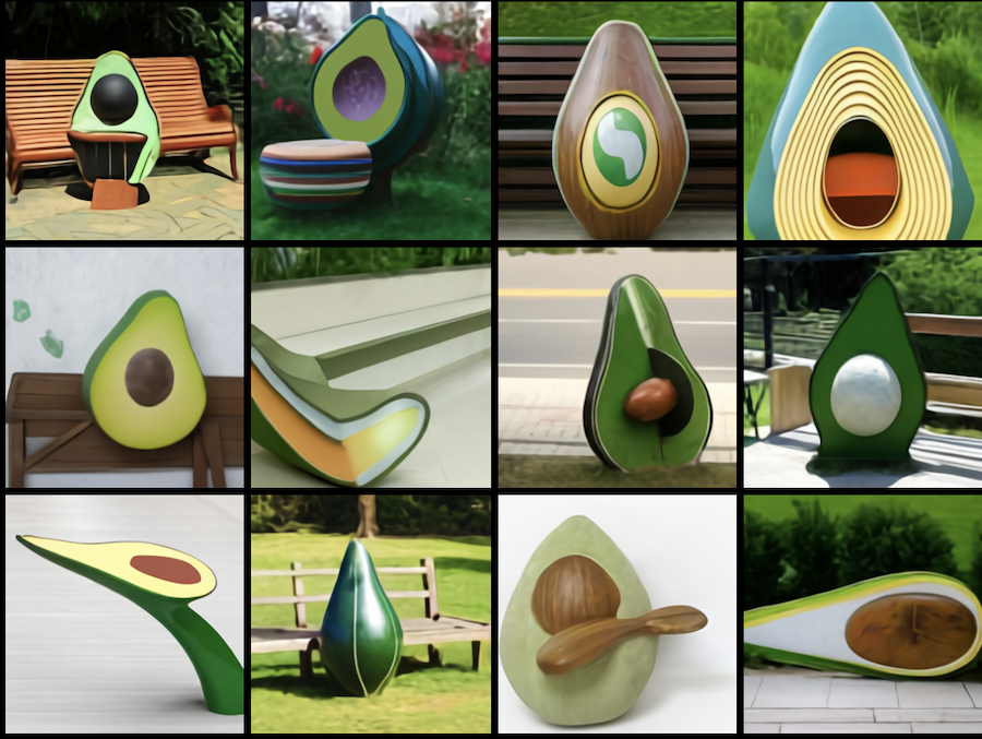 Avocado benches