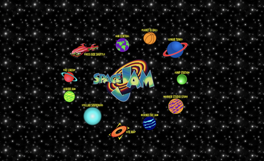 The original Space Jam website